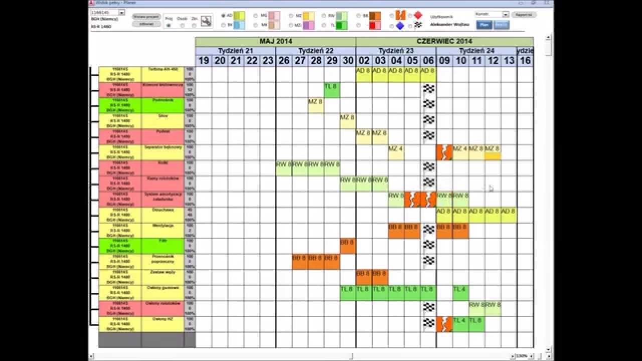 calendar template onenote Microsoft Access interactive Gantt Chart