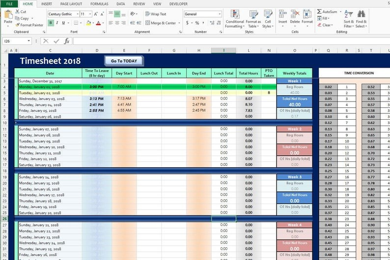 yearly schedule template excel  Microsoft Excel 2019 and 2020 TIMESHEET Yearly Time ..