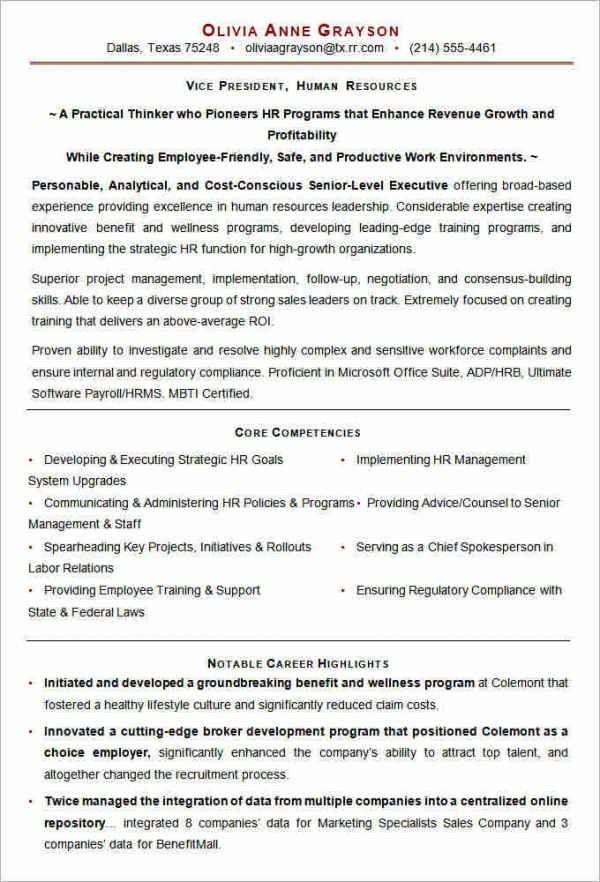 vp resume template  Microsoft Word Resume Template - 49+ Free Samples ..