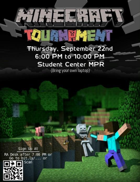letter u craft template  Minecraft Tournament Template | PosterMyWall - letter u craft template