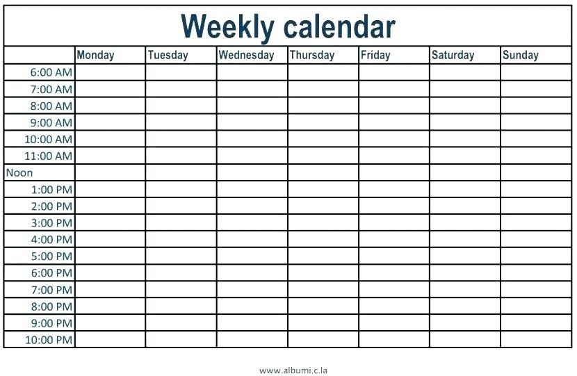 calendar template with time slots  Monthly Calendar With Time Slots – printable month calendar - calendar template with time slots
