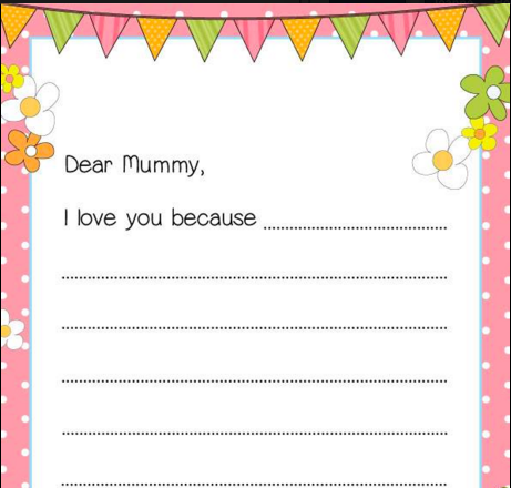 letter template uk  Mothers Day Letter | Make Your Own | Cartridgesave - letter template uk
