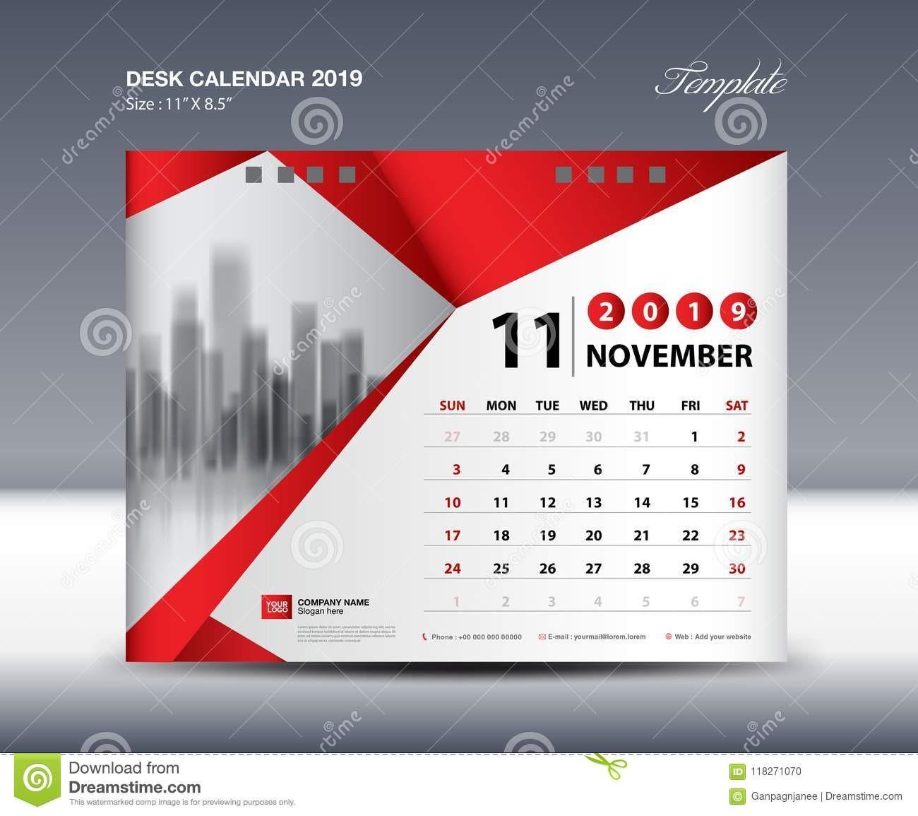 12 month calendar template 2019  NOVEMBER Desk Calendar 2019 Template, Week Starts Sunday ..