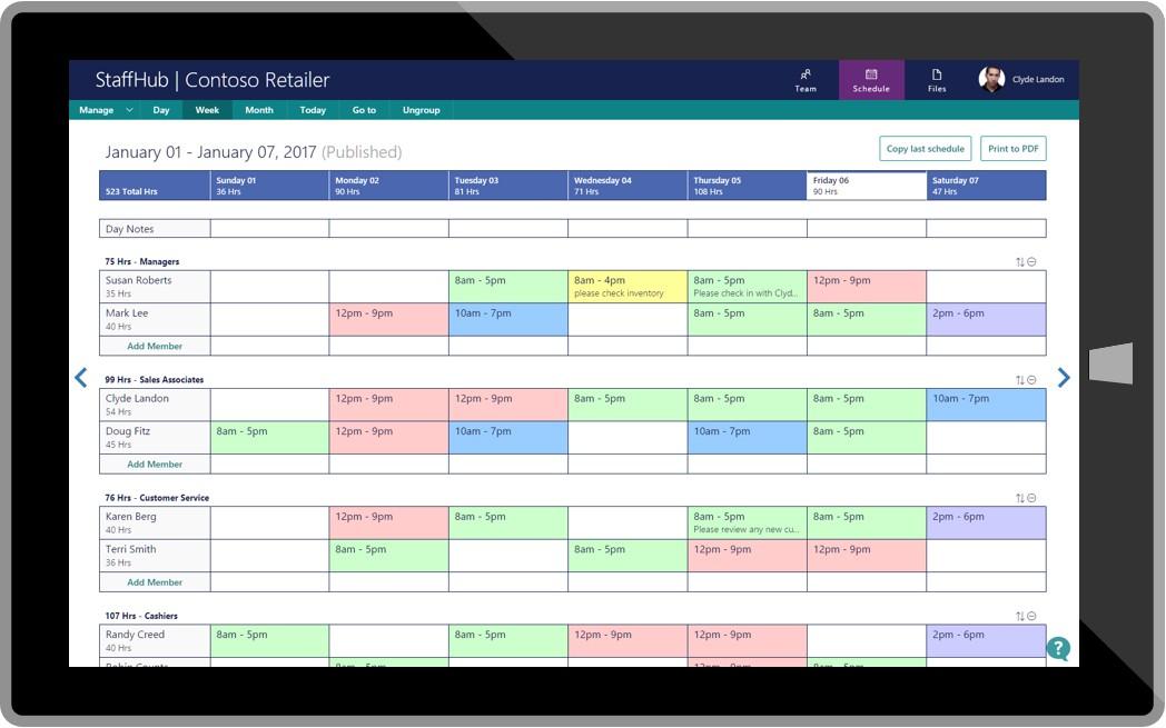 calendar template onenote  「Office 365」でシフト制勤務管理サービス「StaffHub」を利用可能に - ITmedia NEWS - calendar template onenote