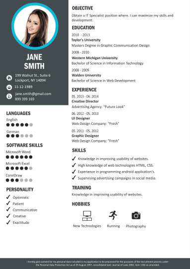 resume template language skills  Online CV Builder   Professional CV Maker   CraftCv - resume template language skills