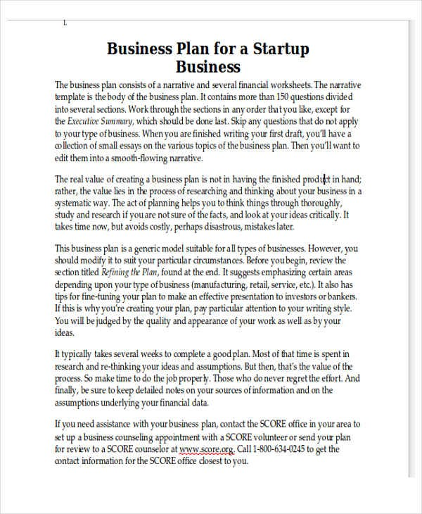 budget template in word  Personal Business Plan Template - 7+ Free Word, PDF Format ..