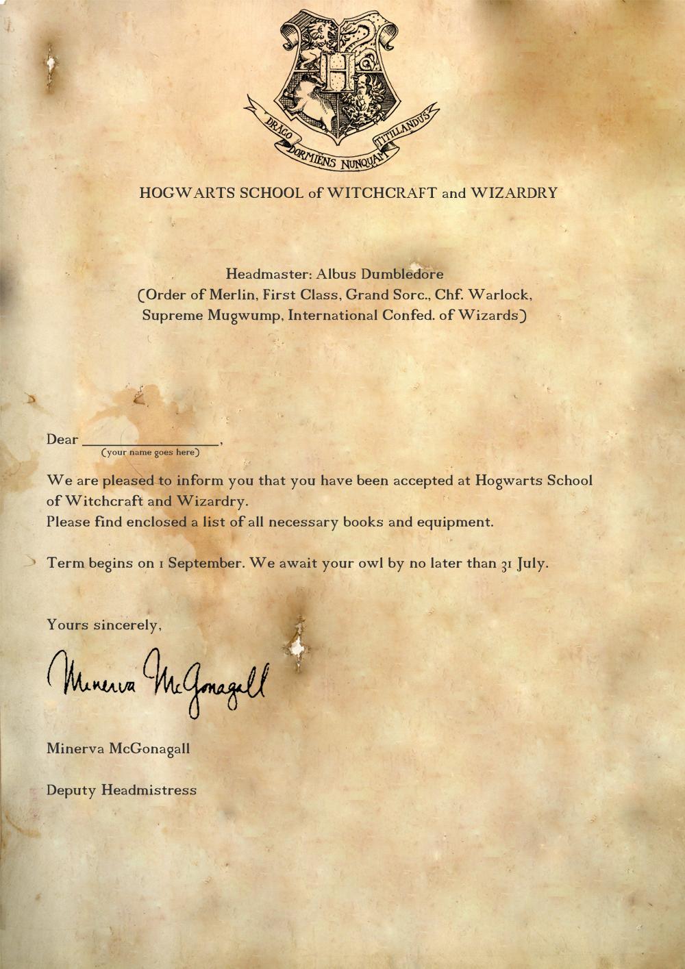 hogwarts acceptance letter template google docs  Pin en Mundo Mágico de Jk - hogwarts acceptance letter template google docs