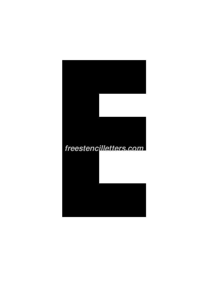 bubble letter e template Print 11 Inch E Letter Stencil - Free Stencil Letters