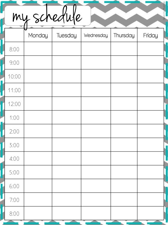 nanny schedule template  printable classroom schedule template clipart 20 free ..