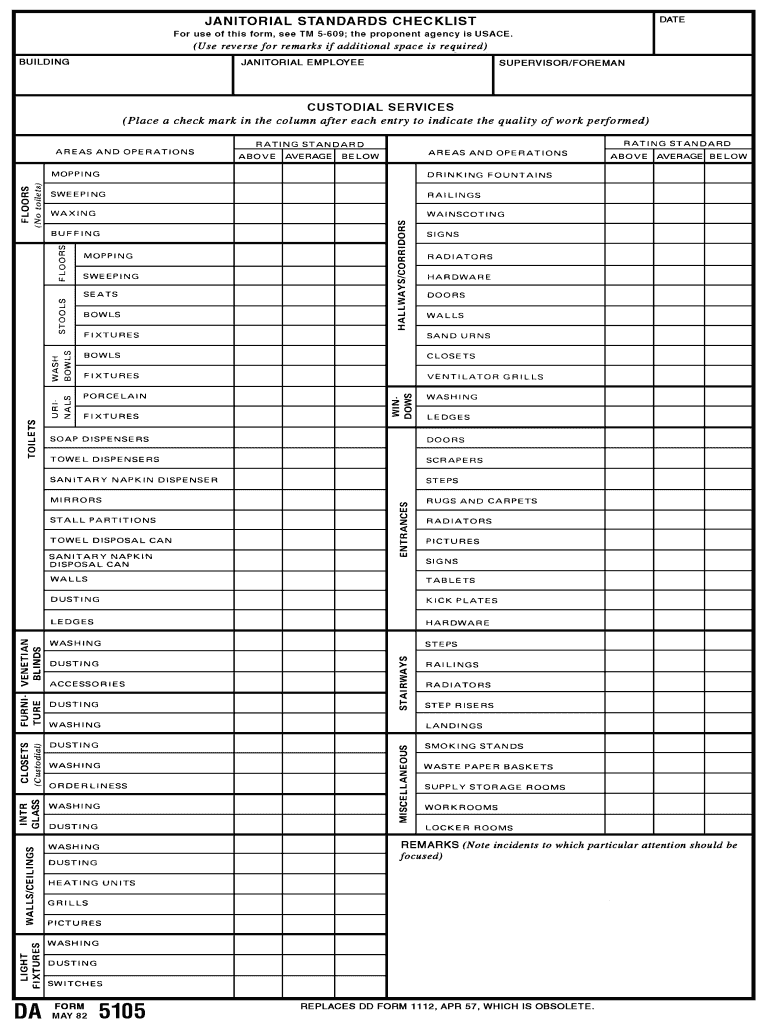 janitorial cleaning schedule template  Printable Janitorial Checklist Template - Fill Online ..