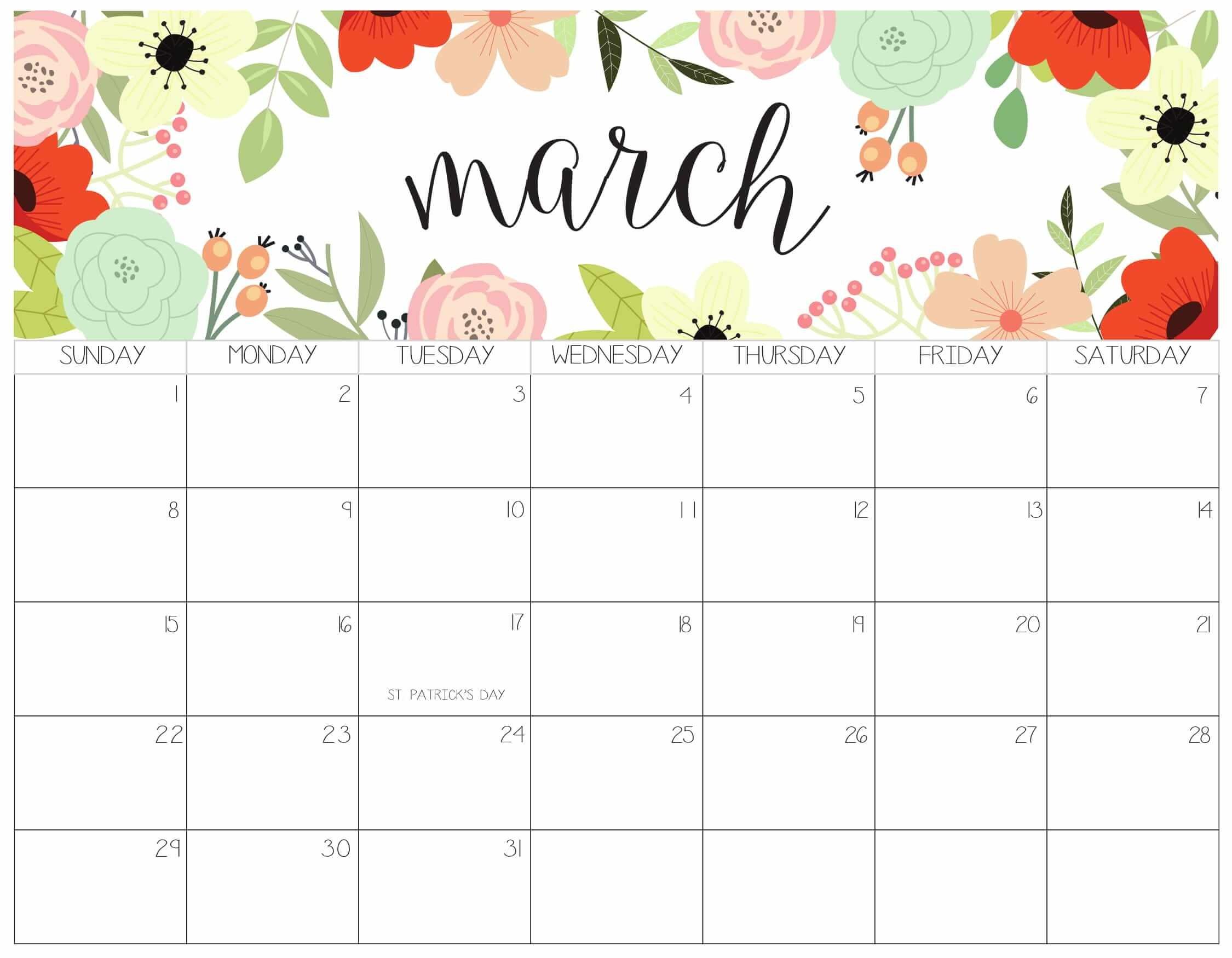 12 month calendar template 2019  Printable March Calendar 2020 Templates - 2019 Calendars ..