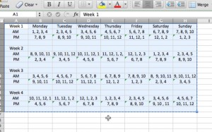 rotating shift schedule template  Quotes About Work Schedules