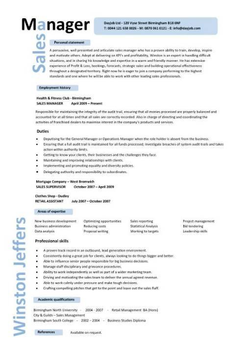 resume template pinterest  Regional Sales Manager Resume – printable planner template - resume template pinterest