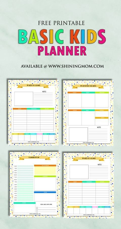 study schedule template  Related image | Kids planner, Student planner printable ..