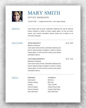 resume template basic  Resume Template Start - Professional Resume Templates for Word - resume template basic