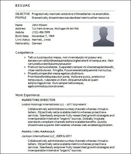 resume template basic  Sample Basic Resume - 21+ Documents in Word - resume template basic