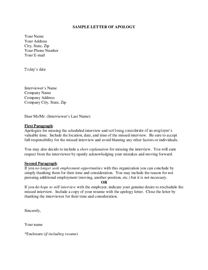letter template with date  Sample Letter of Apology Free Download - letter template with date