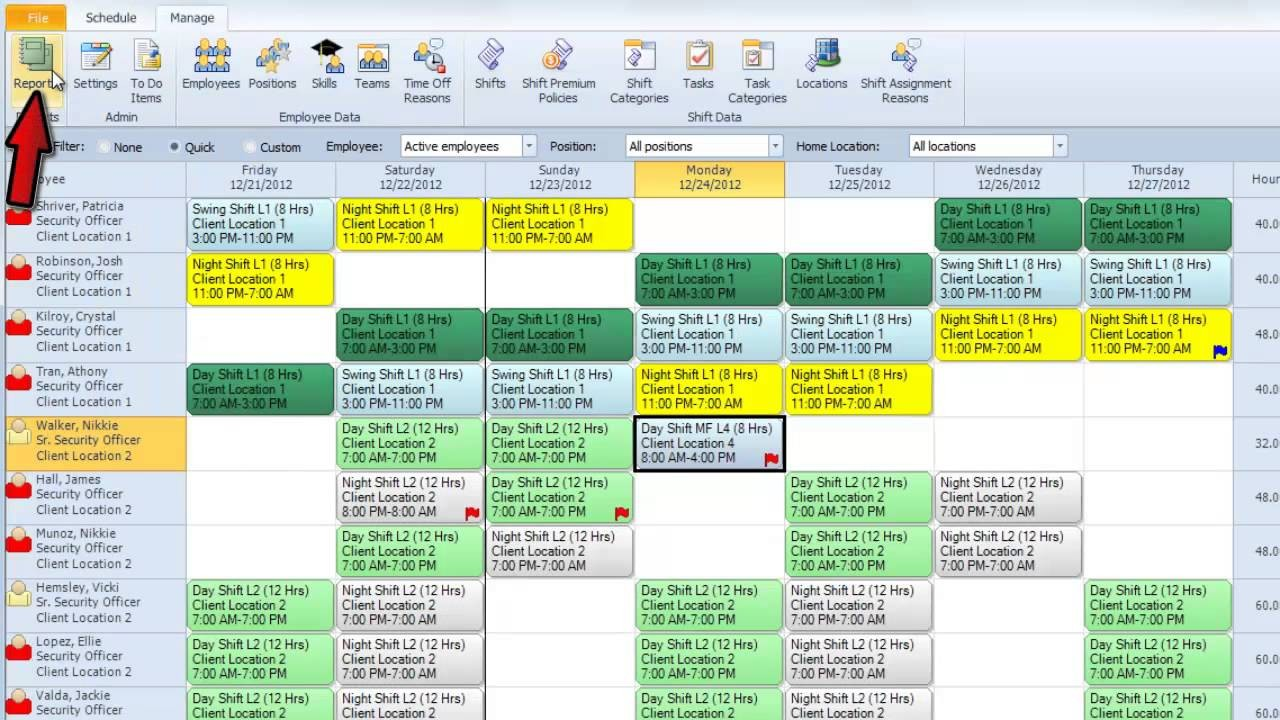 rotating schedule template  Snap Schedule Employee Scheduling Software Video ..