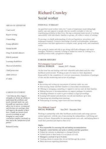 young professional resume template  social work cv template, social worker CV, Youth worker CV ..