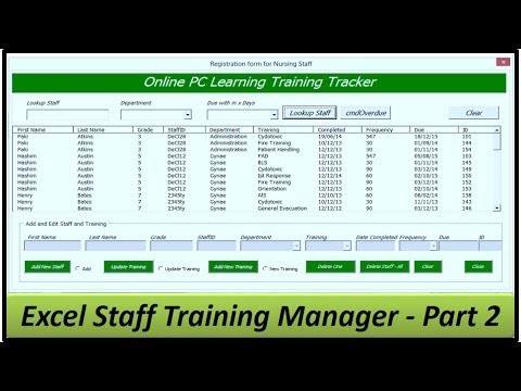 budget template for word  Staff Training Manager - Creating the Userform - Excel ..