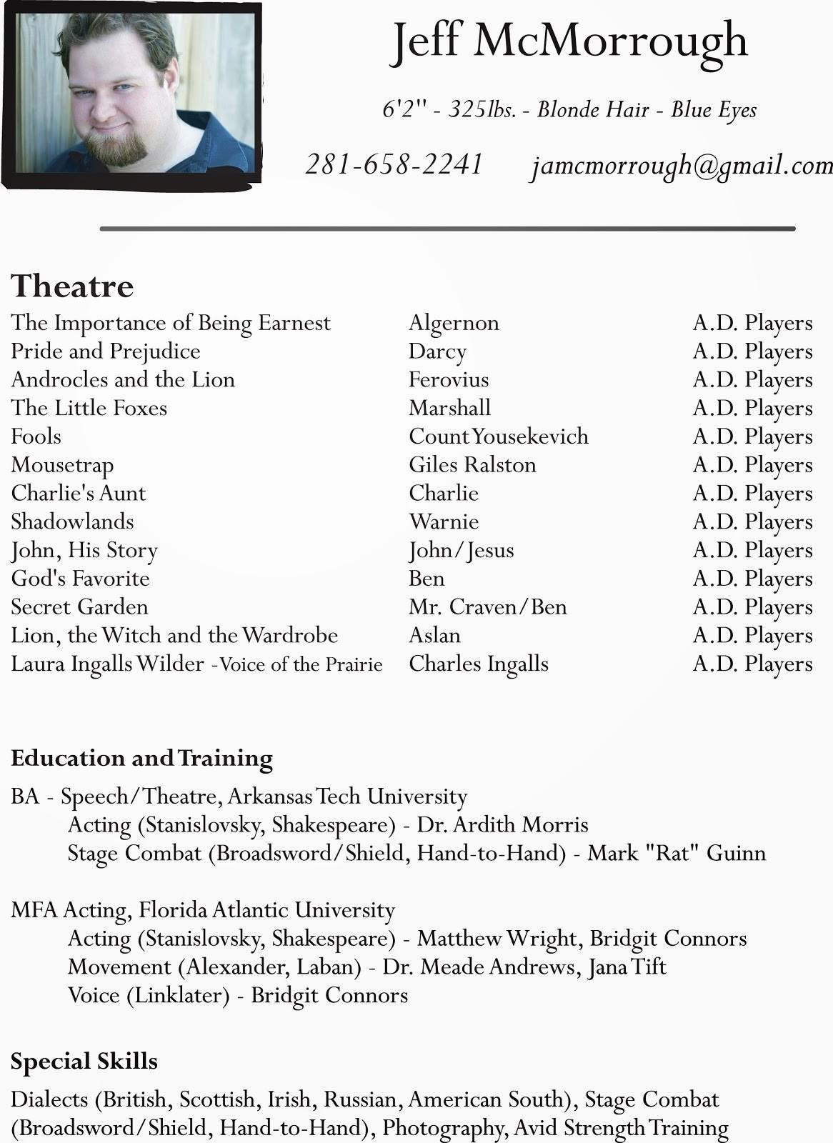 kid actor resume template  talent star: Acting Resume Actor Beginner Kids Theatre ..