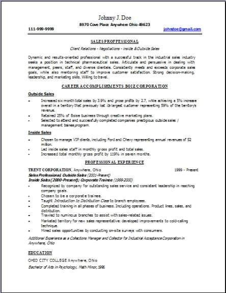 resume template latest  Technical Sales Resume, Occupational:examples,samples Free ..