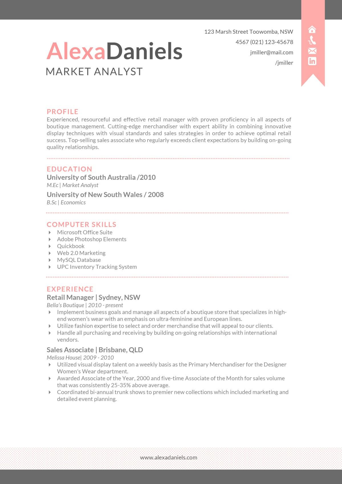resume template skills  The Alexa Resume - Creative Resume Template - resume template skills