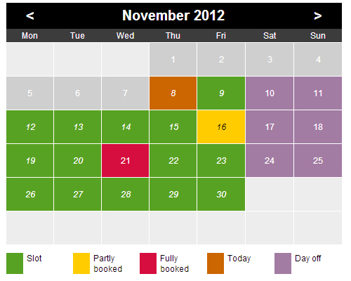 calendar template with time slots  Time Slots Booking Calendar Free Download for Windows 10 ..