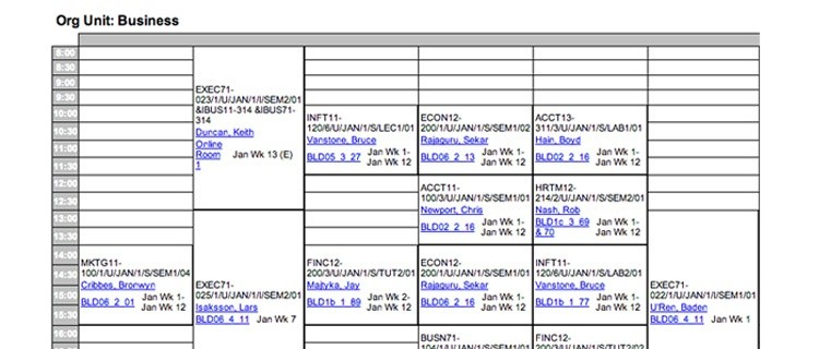 university schedule template  Timetables | Bond University - university schedule template