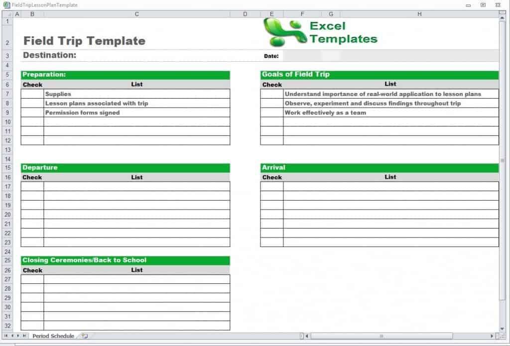 vacation schedule template excel  Trip Schedule Template - Word Excel - vacation schedule template excel