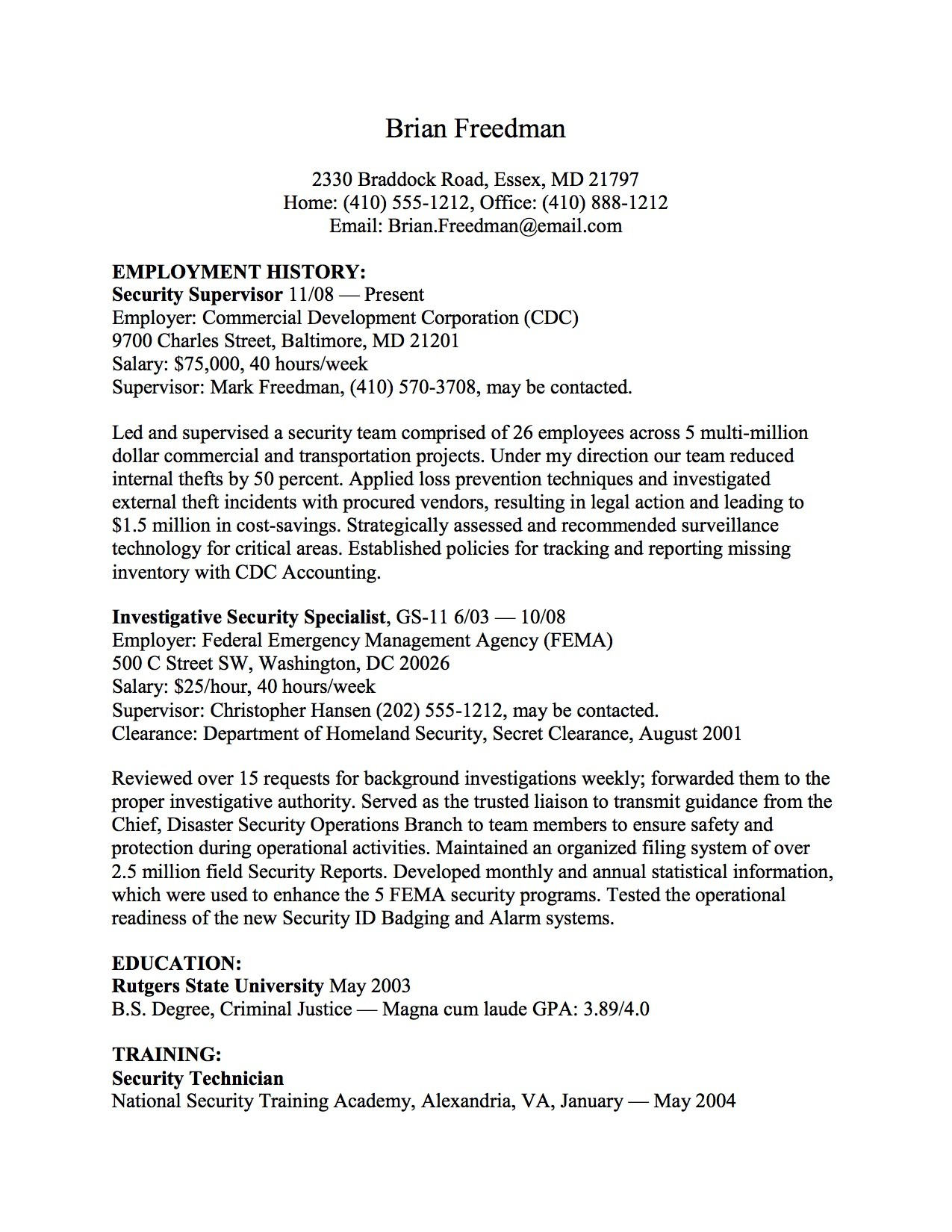resume template usa jobs  USAJOBS Design System | Document - resume template usa jobs