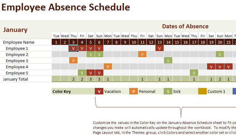 yearly work schedule template  Vacation and Work Planning Calendar Template - My Excel ..