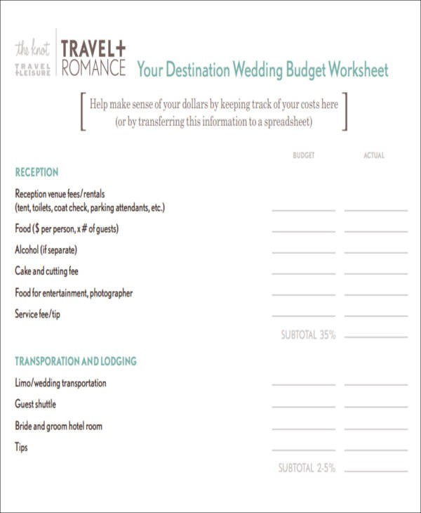 budget template in google sheets  Wedding Budget Worksheet -8+ Examples in Word, PDF - budget template in google sheets