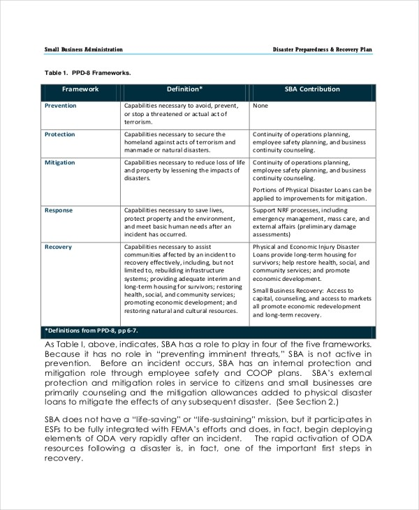 business recovery plan template  10+ Disaster Recovery Plan Examples - Word, Google Docs ..
