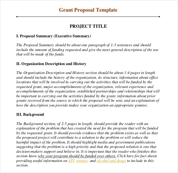grant proposal template  11+ Grant Writing Templates - Free Sample, Example Format ..