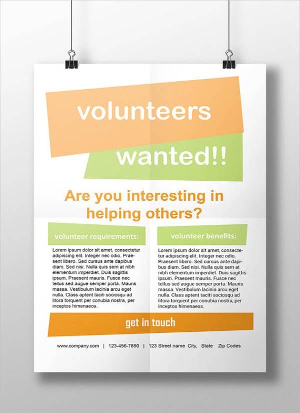 volunteer recruitment flyer template  11+ Volunteer Flyers - MS Word, Pages, PSD, Vector EPS ..