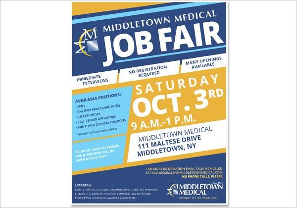free job flyer template  12+ Job Fair Flyer - Free Sample, Example, Format Download ..