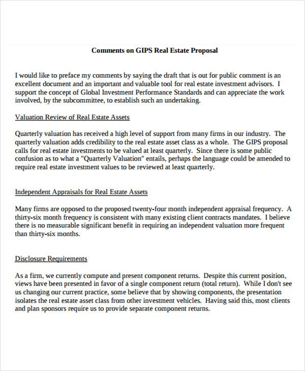 real estate proposal template  13+ Real Estate Business Proposal Templates - Free Word ..