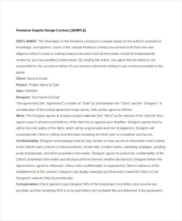 freelance contract template uk  13+ Sample Freelance Contract Templates - Pages, Word ..