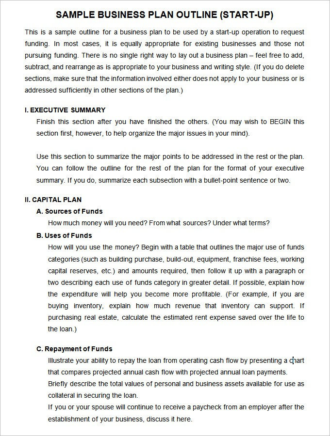 business start up plan template  13+ Startup Business Plan Templates To Foster Your Company ..