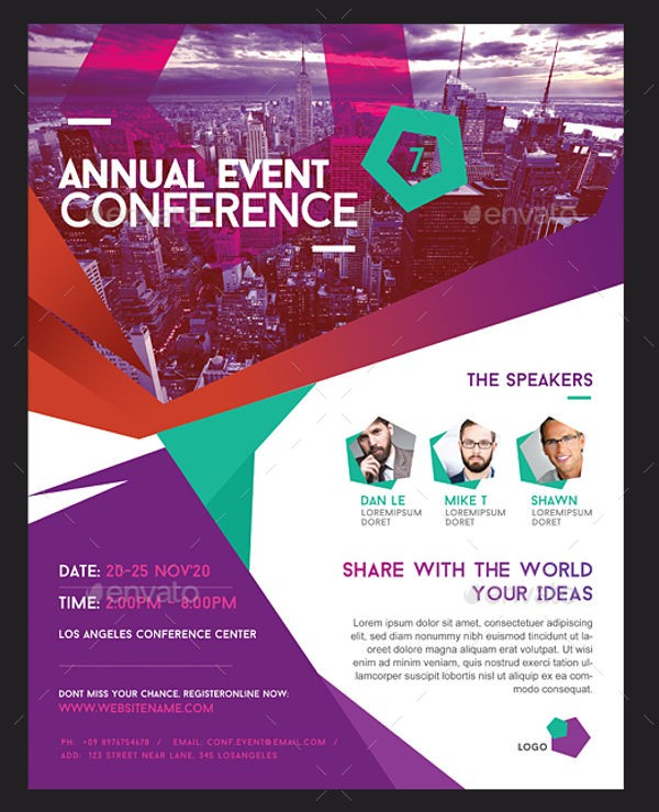 conference flyer template  14+ Best Conference Flyer Designs - - PSD, AI, InDesign ..