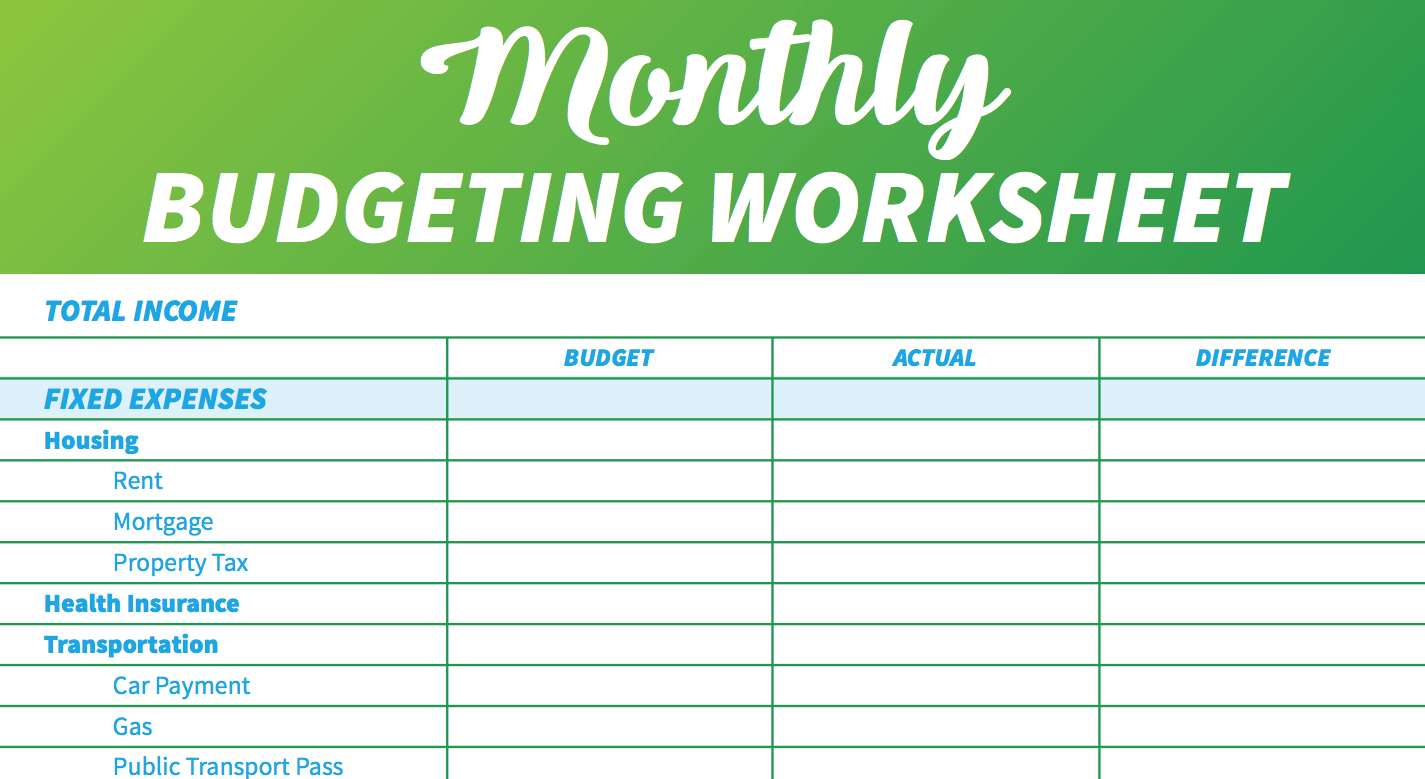 simple monthly budget template  14 Free Budget Templates and Spreadsheets | GOBankingRates - simple monthly budget template