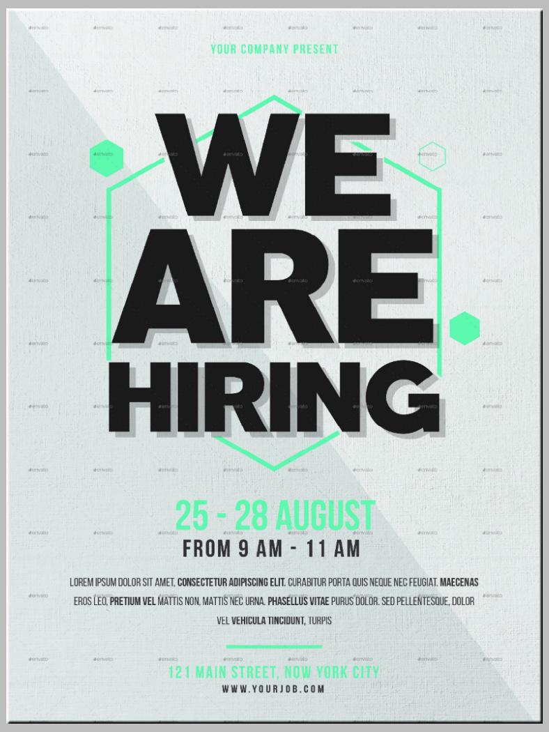 free job flyer template  14+ Job Flyer Designs & Templates - PSD, AI | Free ..