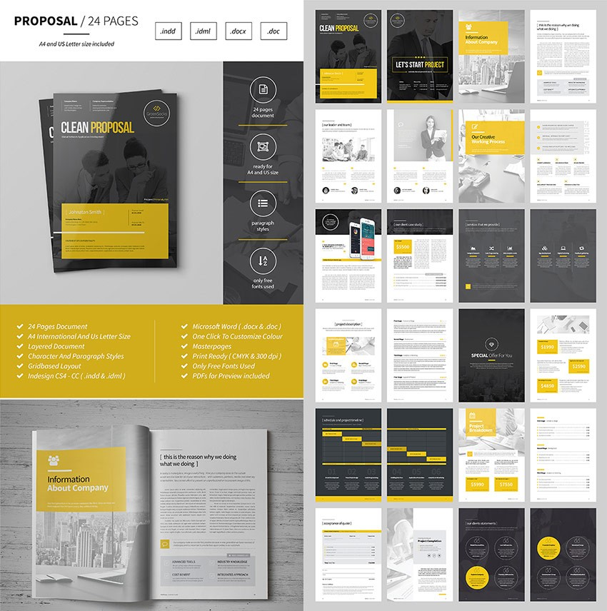 template proposal kreatif  15 Template Proposal Bisnis Terbaik: untuk Proyek Klien Baru - template proposal kreatif