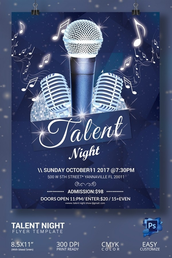talent show flyer template  16+ Amazing Talent Show Flyer Templates PSD! | Free ..