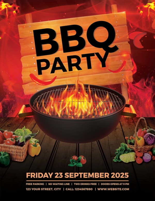 bbq flyer template  17+ BBQ Party Flyer Designs - PSD, AI, Vector EPS | Design ..