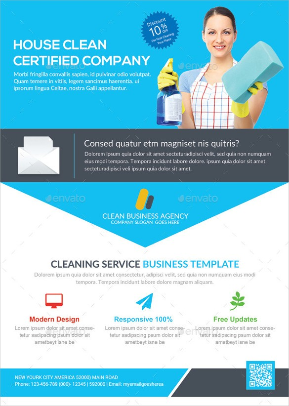 house cleaning contract template  17+ Printable House Cleaning Flyers Templates   Sample ..