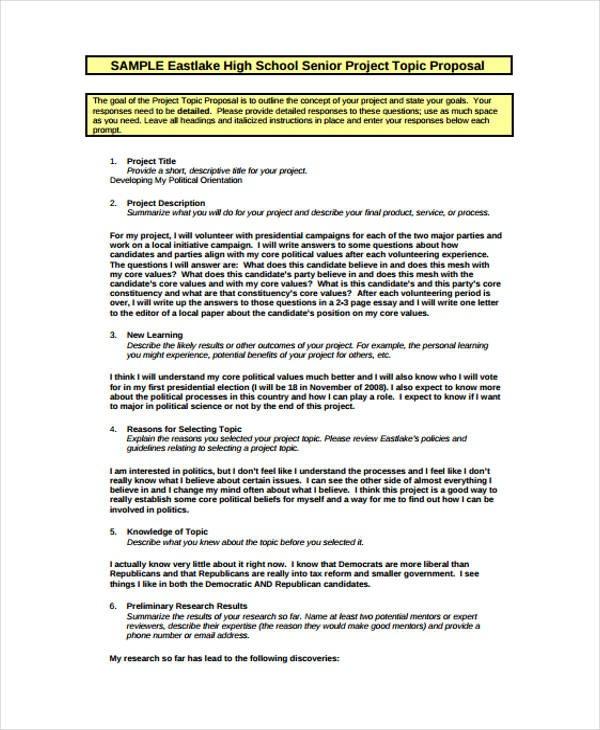 proposal template school proposal sample  17+ School Project Proposal Templates -Free Word, PDF ..