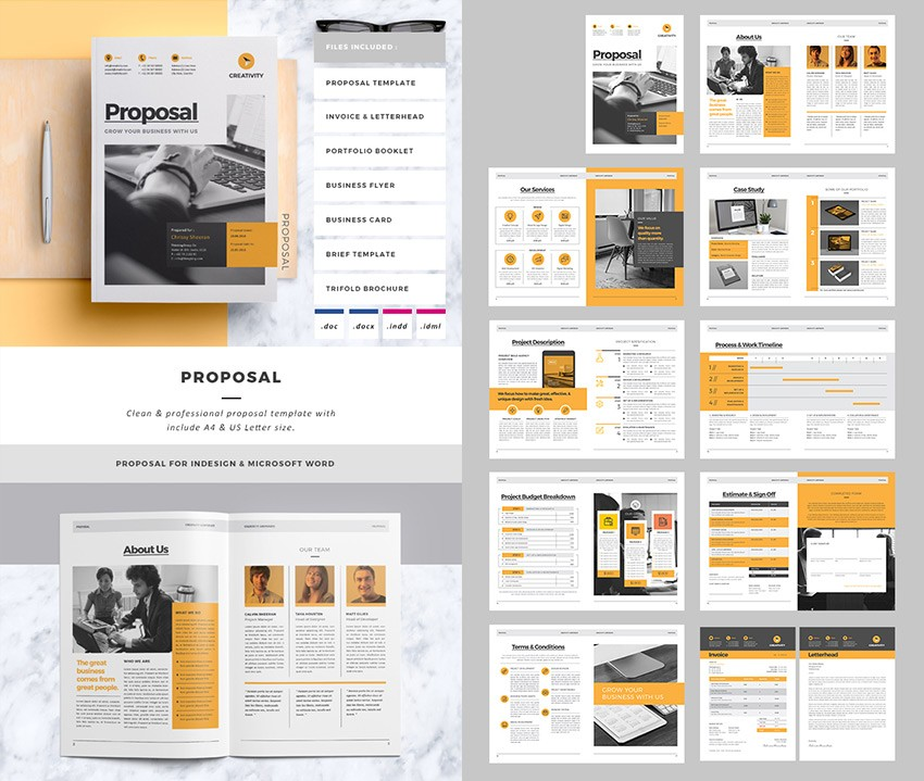 proposal layout template  20+ Best Business Proposal Templates: For New Client Projects - proposal layout template