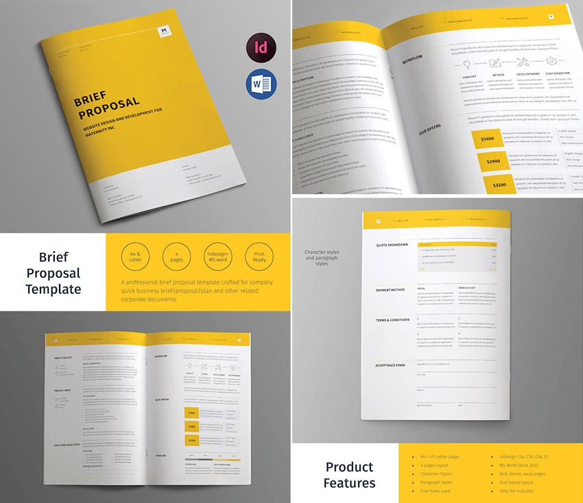 proposal template design free  20+ Best Business Proposal Templates: Ideas For New Client ..